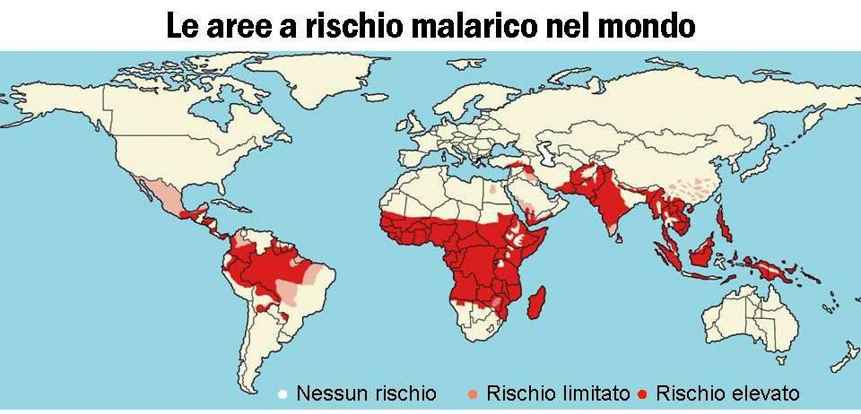 le-aree-a-rischio-malarico-nel-mondo